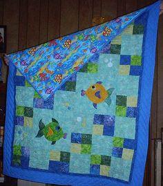Hannah's Fish Quilt 2 2009 by texasrose2007, via Flickr