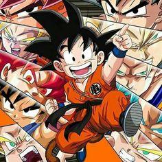 The evolution of Goku. More