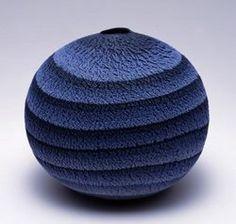 Matsui Kosei   blue pottery ceramics