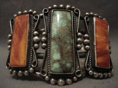 Navajo - Carrico Lake & Spiny Oyster, with Sterling Silver Cuff Bracelet.