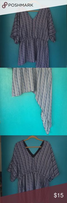 Harper Liv Asymmetrical Blouse Very stylish asymmetrical Blouse. V-neckline, lined with elastic waist. Harper Liv Tops Blouses