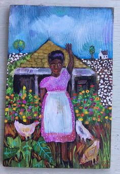 A personal favorite from my Etsy shop https://www.etsy.com/listing/567326895/southern-folk-art-painting-on-wood