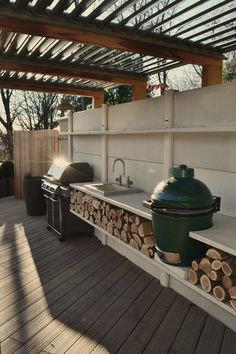 """Exceptional """"outdoor kitchen designs layout patio"""" info is offered on our website. Have a look and you wont be sorry you did. Basic Kitchen, Kitchen On A Budget, Kitchen Ideas, Kitchen Inspiration, Parrilla Exterior, Adirondack Furniture, Adirondack Chairs, Outdoor Furniture, Outdoor Kitchen Design"""