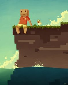 """""""Stranded"""" by eksuos ! This is how I feel when I play Skyblock!"""
