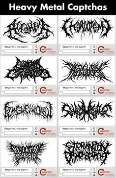 Heavy Metal Captchas...