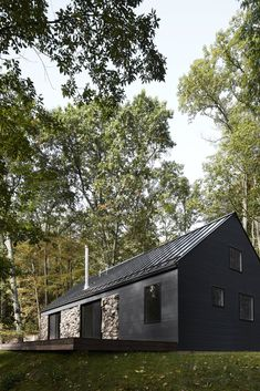 A Minimalist Retreat Rises From Old Stone Walls in Hudson Valley - Photo 3 of 12 -