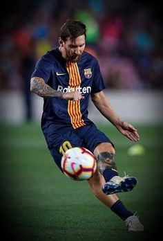 Lionel Messi of Barcelona in action during the La Liga match between. Fc Barcelona, Lionel Messi Barcelona, Messi Soccer, Messi 10, Camp Nou, Olympics News, Nike Football Boots, Leonel Messi, Best Football Players