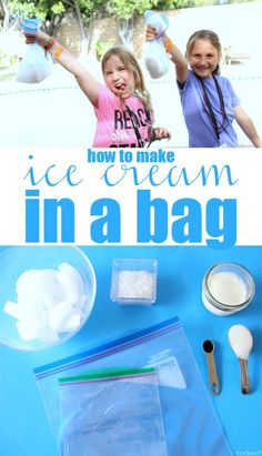 Ice Cream in a Bag - Mia Grafton - Ice Cream in a Bag Simple Ice Cream in a Bag, Kids Summer Activities, Making Homemade Ice Cream without ice cream maker. Ice Cream in a bag Making Homemade Ice Cream, Diy Ice Cream, Ice Cream Party, Activities For Teens, Summer Activities For Kids, Summer Kids, Summer Science, Speech Activities, Summer School