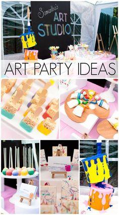 Easy art party ideas diy