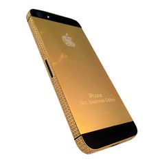 Gold iPhone 5S - Become an exclusive Apple Ambassador with this limited edition, 64 gigabyte iPhone 5s that is unlocked to all networks worldwide. Fully embellished in your choice of 18 karat Rose Gold or 24 karat. | US $5,560.00 ( http://zocko.it/Lyqd )