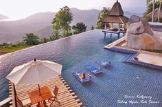 Samui Ridegway (Taling Ngam, Koh #Samui) is an exceptional, fully serviced private #villa with breathtaking sea views from its mountain top position featuring an enormous infinity edge swimming pool.