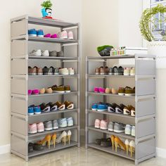Discount This Month Multi Layer Shoe Rack Nonwovens Steel Pipe Easy to install home Shoe cabinet Shelf Storage Organizer Stand Holder Space Saving Cheap Shoe Rack, Best Shoe Rack, Shoe Racks, Shoe Storage In Bedroom, Closet Bedroom, Closet Storage, Shoe Rack Steel, Narrow Shoe Rack, Organizar Closet