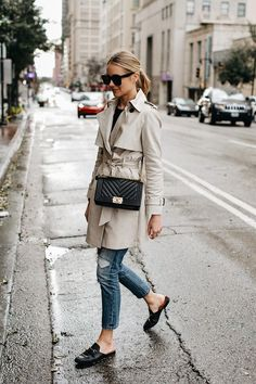 A Casual Way to Wear a Trench Coat