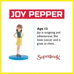 Joy likes to challenge Gizmo and Chris at trivia games.  Joy is also always ready for an adventure! And now your kids can take her on one with the Superbook toys.   Order by 3pm (ET) today for your last chance to receive your Superbook toys by Easter! (US Only): http://go.superbk.co/toys Trivia Games, Last Chance, Challenges