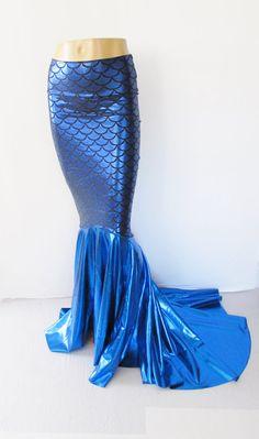 Royal blue Mermaid scale Skirt Fish tail by ZanzaDesignsClothing, $69.00