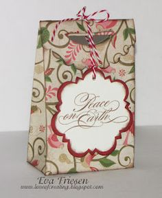 CTMH Pear and partridge paper and Artiste Cricut cartridge