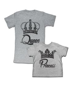 Look what I found on #zulily! Gray 'Queen' Tee & 'Princess' Tee - Toddler, Girls & Women by American Classics #zulilyfinds