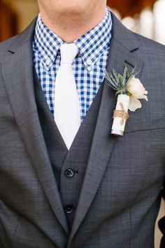 shot gun shell boutonniere | Tucker Images #wedding