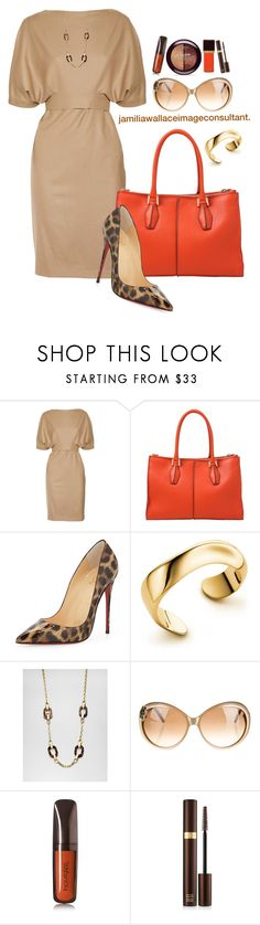 """""""Ideal Image"""" by jamilia-wallace ❤ liked on Polyvore featuring Gucci, Tod's, Christian Louboutin, Elsa Peretti, Michael Kors, Yves Saint Laurent, Hourglass Cosmetics, L'Oréal Paris and Tom Ford"""