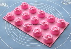 Roses Flower Flexible Silicone Mold Cake Mold Chocolate Mold Cookie Mold Icing Mold Polymer Clay Mold Resin Mold Soap Mold- for the cream cheese mint candies