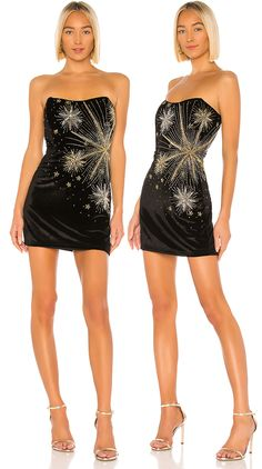 Party Dresses for the Festive Season 2020. Retrofete Party Dress. The ULTIMATE Festive Season party dress for those young enough to wear it. Boned bodice with non-slip silicone grip lining at bust, with sequin + beaded embellishments in a fireworks design for the party. No matter the occasion, Retrofete loves a good party (dress). Every one of the label's glittering designs boasts luxe elements and opulent details. Retrofete sequin dress. Outfits for the Christmas Party. New Years Eve.