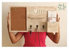 Wooden Projects, Wooden Crafts, Diy Projects To Try, Home Projects, Home Command Center, Diy Home Decor, Room Decor, Pallet Furniture, Home Organization