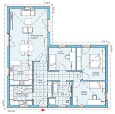 Viel Platz auf einer Etage bietet der Grundriss des Bungalow 113! Lassen Sie sich von den möglichen Planungsoptionen inspirieren: