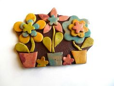 Flowers Brooch by GADOUILLE | Polymer Clay Planet