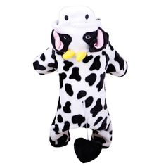 Type: DogsModel Number: NoveltySeason: Autumn/WinterPattern: AnimalBrand Name: HoopetMaterial: Coral VelvetColor: black/white Panda Costumes, Pet Costumes, Puppy Costume, Puppy Coats, Pet Dogs, Pets, Cute Cows, Pet Boutique