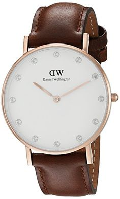 Now available Daniel Wellington Women's 0950DW Classy St. Mawes Watch With Brown Leather Band