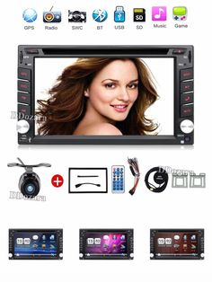 [Visit to Buy] 2 din New universal Car Radio Double 2 din Car DVD Player GPS Navigation In dash Car Stereo video Free Map Camera car multimedia #Advertisement