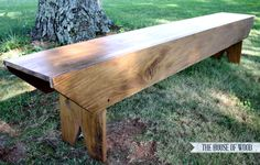 DIY Pottery Barn-Inspired Bench Perfect for any outdoor spot