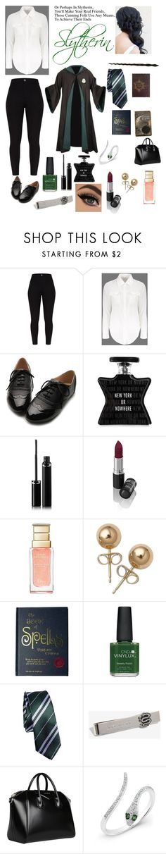 """Slytherin"" by annamanuel903 on Polyvore featuring Ollio, Bond No. 9, Sisley, Lavera, Christian Dior, Bling Jewelry, CO, CND, Warner Bros. and Givenchy"