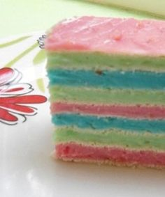 Multicolored Cake