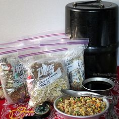 Lightweight, Nutritious Backpacking & Camping Food. How to make and pack 7 days of breakfasts, lunches, dinners & snacks that fit in a bear barrel. TheYummyLife.com #backpackingfood #campingfood #backpackingideas #nutritioussnacks #healthysnacks #mealplan #theyummylife