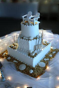 island wedding cake
