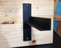 Heavy-Duty Steel Shelving Brackets by GTfabworks on Etsy Welding Projects, Diy Wood Projects, Woodworking Projects, Projects To Try, Steel Shelving, Shelving Brackets, Shelves, Shelf Design, Diy Design