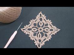 Crochet Lace Edging, Crochet Diagram, Crochet Squares, Irish Crochet, Crochet Flowers, Crotchet Stitches, Crochet Home Decor, Lace Patterns, Crochet Patterns Amigurumi