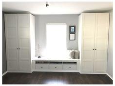 Ikea Pax Wardrobe, Bedroom Wardrobe, Built In Wardrobe, Garage Bedroom, Wardrobe Storage, Wardrobe Closet, Ikea Hack Bedroom, Bedroom Storage, Bedroom Dressers