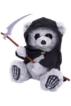 Collectable 27cm Soft Plush Grim Reaper Bear