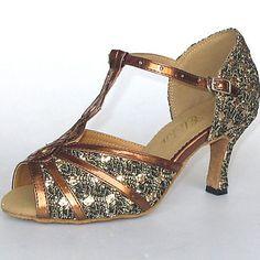 Zapatos de baile (Plata) - Danza latina/Salón de Baile - Personalizados - Tacón…