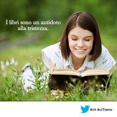 I libri sono un antidoto alla tristezza. (Anjali #Banerjee) #cit #ciTIamo #quote #aforismi