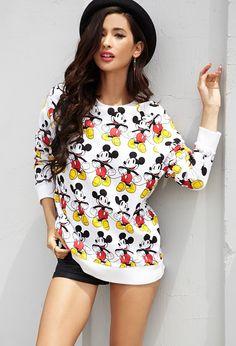 Mickey Mouse© Raglan Sweatshirt | FOREVER21 - 2000050428