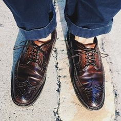 Alden longwings in #8 shell cordovan