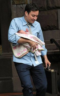 jimmy fallon and baby. this is too cute.
