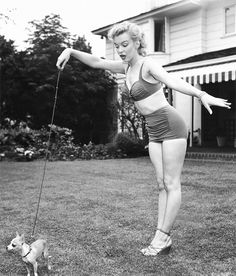 Because everyone should walk their dog in a swimsuit at least once.