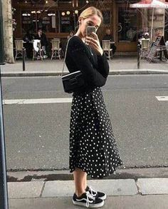 The Best Street Style From Helsinki Fashion Week - jupe Simple Outfits, Outfits For Teens, Winter Outfits, Spring Outfits, Long Skirt Outfits For Summer, Summer Clothes, Dress Winter, Winter Skirt, Outfits For Rain