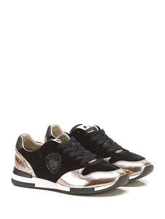 Blauer - Sneakers - Donna - Sneaker in pelle laminata e velluto con suola in…