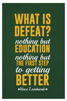 ''Vince Lombardi Quote on Print. See more at www.finesportsprints.com #lombardi #sportsquote #packers''