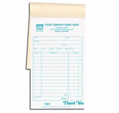Invoice Books Custom Magnificent 691T Personalized Receipt Books  Color Collection  Receipt Books .